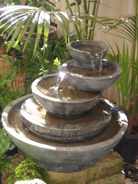 How to build your own outdoor garden water fountain for Waterfall water feature