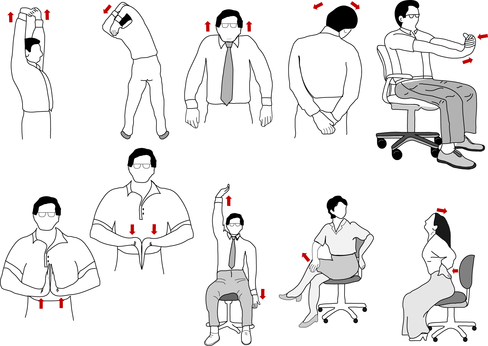 Get a workout while at the office ezeliving for Ergonomia en la oficina