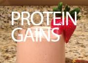 Protein gains
