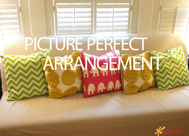 The Trick To Arranging Pillows To Create A Picture Perfect