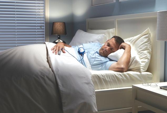 sleep test patient